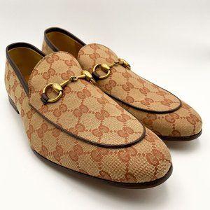 Gucci Men's Jordaan GG Canvas Horsebit Loafer